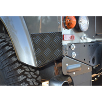 Land Rover Defender 90 Patriot Rear Corner Protectors Black