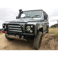 Land Rover Defender Shadow Tubular Winch Bar Suits Air Con With Swivel Eyes