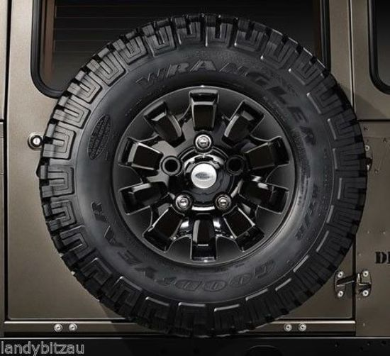 Land Rover Defender Saw Tooth Black Alloy Wheel Genuine