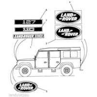 Land Rover 110 And Perentie Genuine Rear Oval Decal.