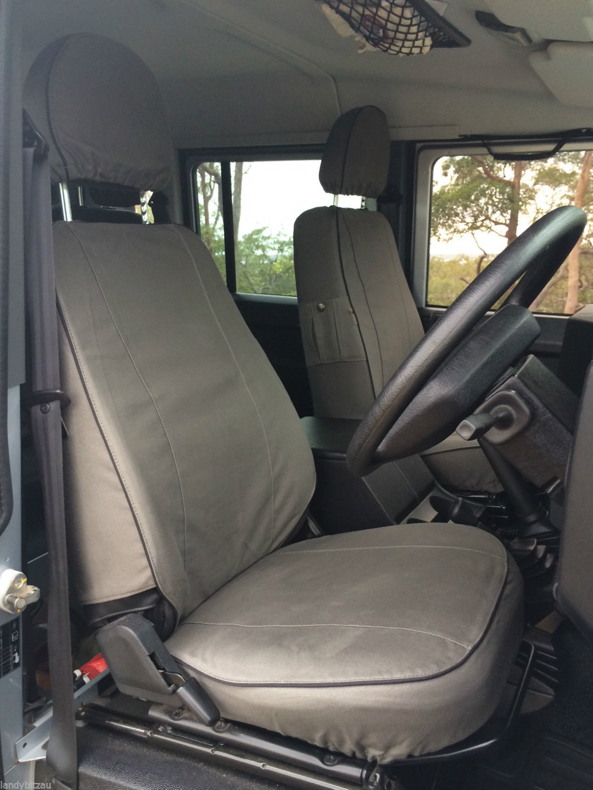 Escape Land Rover Defender Front Amp Rear Canvas Seat Covers