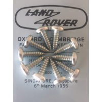 Land Rover Self Tapping Screw Various Applications X10