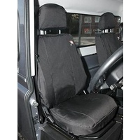 Land Rover Defender Front Waterproof seat covers. Black 2007 onwards