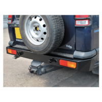 Land Rover Discovery 2 Bumper Bar Rear Heavy Duty Steel in Black