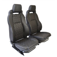 Land Rover Defender ELITE SEAT MK2 (PAIRS ONLY) DIAMOND BLACK++Heater Pack