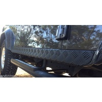 Land Rover Defender 90 Patriot Side Sill Protectors (Black)